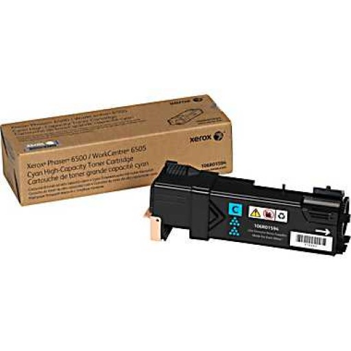 Xerox 106R01594, Toner Cartridge HC Cyan, Phaser 6500, WorkCentre 6505- Original