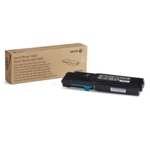 Xerox 106R02229, Toner Cartridge HC Cyan, Phaser 6600, WorkCentre 6605- Original