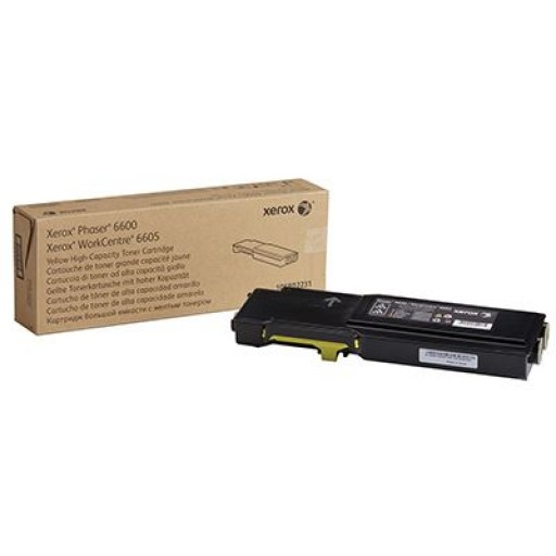 Xerox 106R02231, Toner Cartridge HC Yellow, Phaser 6600, WorkCentre 6605- Original