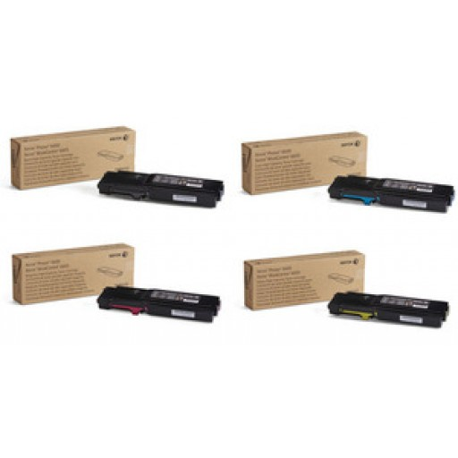 Xerox 106R02229, 106R02230, 106R02231, 106R02232 HC Toner Multipack, Phaser 6600, WorkCentre 6605- Original