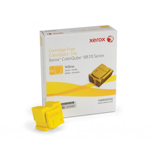 Xerox 108R00956 Solid Ink Sticks, ColorQube 8870 - 6X Yellow Genuine