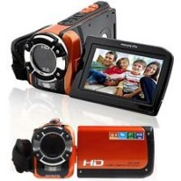 HD 1080P, 16.0MP, Waterproof Digital Video Camcorder DV Camera Underwater- Orange