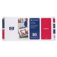 HP C4822A, No.80, Magenta Printhead and Cleaner, Designjet 1050- Original