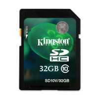 Kingston 32GB SD SDHC Class 10 Memory Card for Ricoh WG-4 Camera
