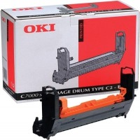 Oki 41304112, Image Drum Unit- Black, C7200, C7400- Original