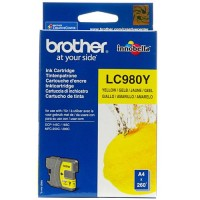 Brother LC-980Y, Toner Cartridge Yellow, DCP-145C, 163C, MFC-250C, 295C- Original