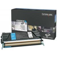 Lexmark C5222CS Toner Cartridge, C522, C524, C530, C532, C534 - Cyan Genuine