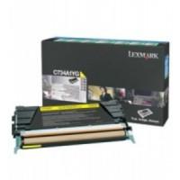 Lexmark C734A1YG, Toner Cartridge- Yellow, C734, C736, X736, X738- Genuine