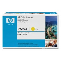 HP C9722A, Toner Cartridge- Yellow, 4600, 4610, 4650- Original