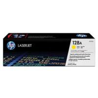 HP 128A CM1415, CP1525 Toner Cartridge - Yellow Genuine (CE322A)
