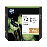HP P2V33A, NO.72, Ink Cartridge Matte Black 2-Pack, T790, T1100, T1200, T1300- Original