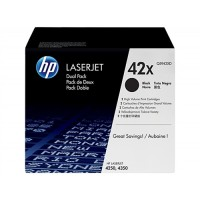 HP Q5942XD, Toner Cartridge HC Black Multipack, Laserjet 4250, 4350- Original