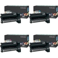 Lexmark C7700KH/CH/MH/YH, 4 Colour Return Program HC Toner Cartridges, C770, C772, C722- Original