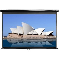 Elite M84UWH-BLACK Manual Pull Down Projection SCreen