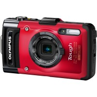 Olympus, Stylus Tough TG-3, Digital Camera- Red