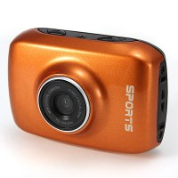 Pro HD Helmet Sport DV 1280 x 720, Digital Video Waterproof Camera/ Camcorder- Orange