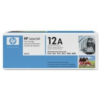HP 12A 1010, 1012, 1015, 1018, 1020, 1022, 3015, 3020, 3030, 3050, 3052, 3055, M1005 Toner Cartridge - Black Genuine (Q2612A)