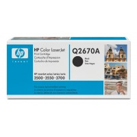 HP Q2670A, Toner Cartridge- Black, Color LaserJet 3500, 3550, 3700- Original