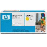 HP Q6002A, Toner Cartridge- Yellow, 1600, 2600, 2605, CM1015, CM1017- Genuine