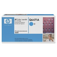 HP Q6471A, Toner Cartridge- Cyan, 3600, 3800, CP3505- Original