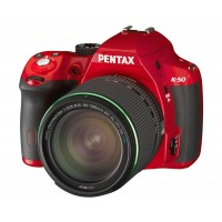 Pentax, K-50, Digital SLR Camera- Red