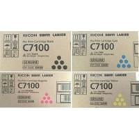 Ricoh 828384, 828385, 828386, 828387, Toner Cartridge Value Pack, Pro C7100, C7110- Original