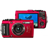 Olympus, Stylus Tough TG-4, Waterproof Digital Camera- Red