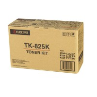 Kyocera Mita TK-825K, Toner Cartridge- Black, KM C2520, C3225- Genuine