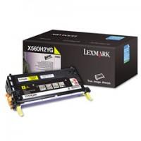Lexmark X560H2YG, Toner Cartridge- HC Yellow, X560- Genuine