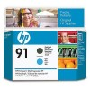 HP C9460A No.91 Matte Black & Cyan Printhead Genuine