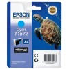 Epson T1572, Ink Cartridge Cyan, Stylus Photo R3000- Original