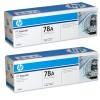 HP 78A M1536, P1566, P1606 Toner Cartridge - Black Twinpack Genuine (CE278AD)
