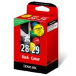 Lexmark 18C1429E No.28 & No.29 Ink Cartridge - Black & Tri-Colour Multipack Genuine