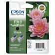 Epson T013 Ink Cartridge - Twin Pack Black Genuine