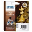 Epson T0501 Ink Cartridge - Black Multipack Genuine