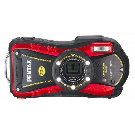 Pentax WG-10, Waterproof Digital Camera- Red