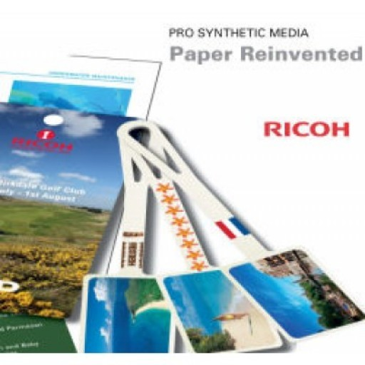 Ricoh PSM120MWO-A4, Pro Synthetic Media 120M- White Opaque