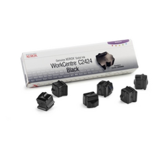 Xerox WorkCentre C2424 Solid Ink Sticks - 6 x Black Genuine (108R00664)