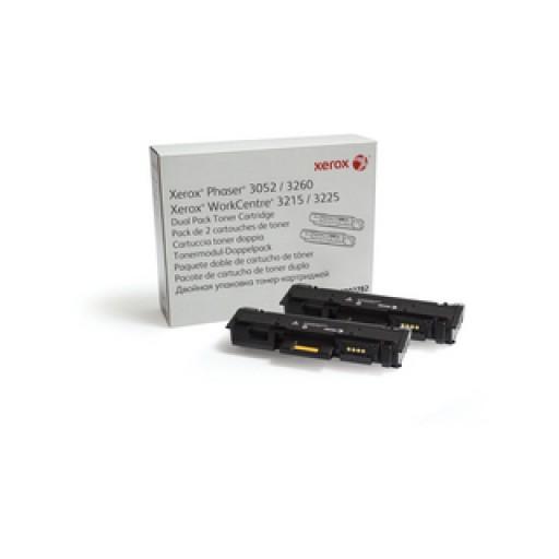 Xerox 106R02782, Dual Capacity Toner Cartridge Black, Phaser 3052, 3260, WorkCentre 3215, 3225- Original