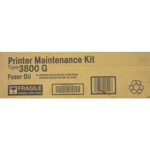 Ricoh 400549 Maintenance Kit Fuser Oil Type 3800 G, AP3800- Original