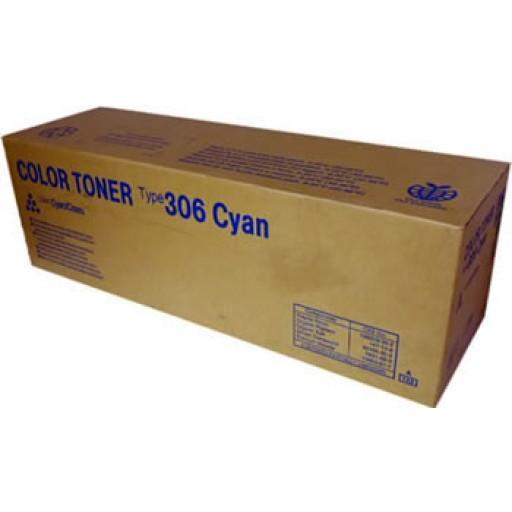 Ricoh 400492 Toner Cartridge Cyan, Type 306, AP305, AP306, AP505 - Genuine