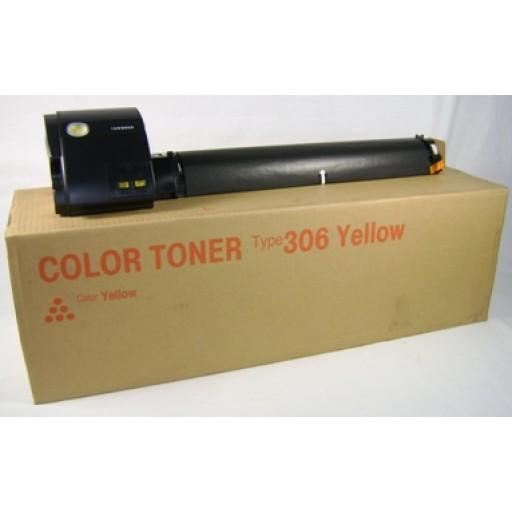 Ricoh 400494 Toner Cartridge Yellow, Type 306, AP305, AP306, AP505 - Genuine