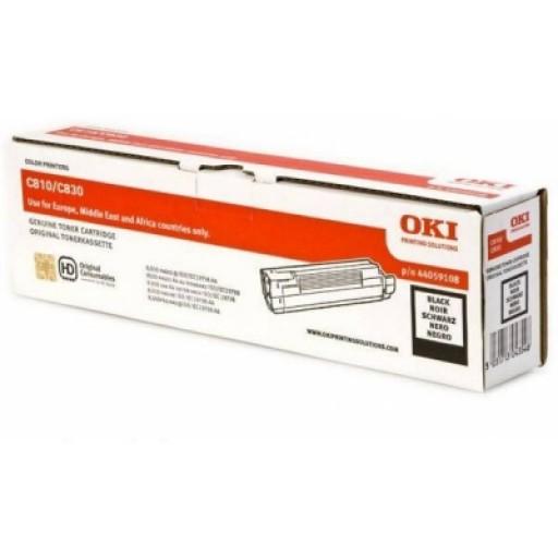 Oki 44059108 Toner Cartridge Black, C810, C830- Genuine