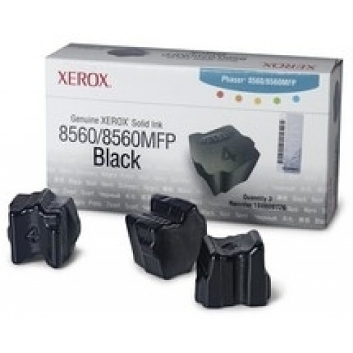 Xerox Phaser 8560 Solid Ink Sticks - 3 x Black Genuine (108R00726)