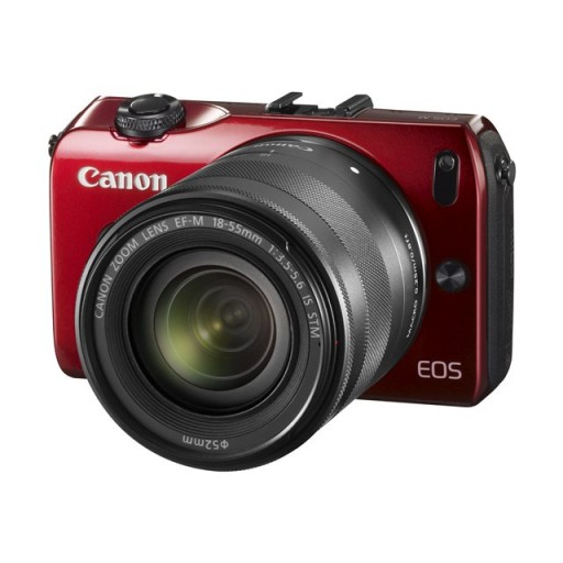 Canon EOS M Red Compact System Camera + 18-55mm lens