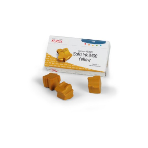 Xerox Phaser 8400 Solid Ink Sticks - 3 x Yellow Genuine (108R00607)