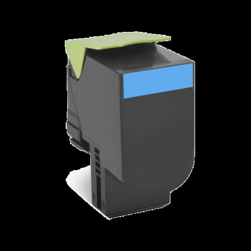 Lexmark 802HC HC Return Program Toner Cartridge - Cyan Genuine, 80C2HC0