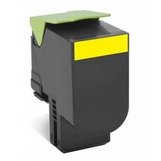 Lexmark 802HY HC Return Program Toner Cartridge - Yellow Genuine, 80C2HY0