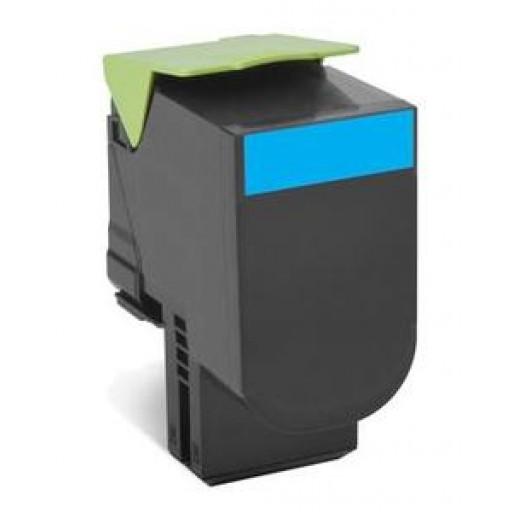 Lexmark 802XC Extra HC Return Program Toner Cartridge - Cyan Genuine, 80C2XC0