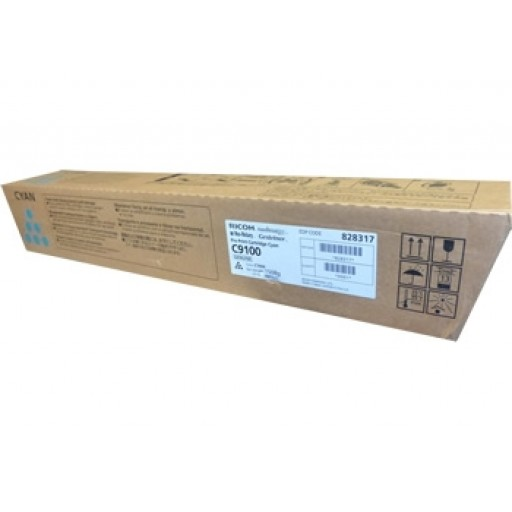 Ricoh 828317, Toner Cartridge Cyan, Pro C9100- Original